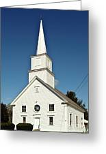 Vermont Church. Greeting Card