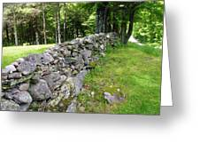 Vermont Stone Wall Greeting Card