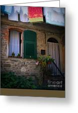 Vernazza Linens Greeting Card