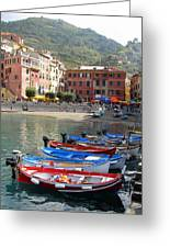 Vernazza's Harbor Greeting Card
