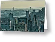 Verrazano From Manhattan Greeting Card
