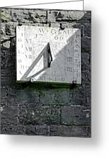 Vertical Sundial On Fenny Bentley Church Greeting Card