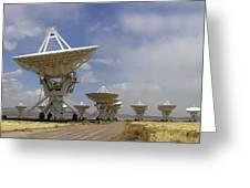 Very Large Array (vla) Radio Antennae Greeting Card