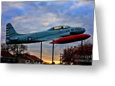 Vfw F-80 Shooting Star Greeting Card