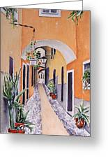 Via Grimaldi Saleri Greeting Card by Regina Ammerman