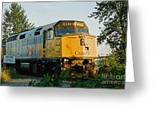 Via Rail Engine Greeting Card