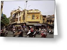 Vibrant Hanoi Greeting Card