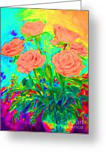 Vibrant Roses Greeting Card