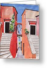 Vico Giardini Greeting Card by Regina Ammerman