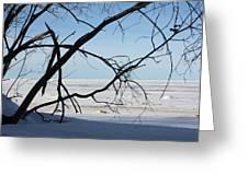 Victoria Beach Winter Greeting Card