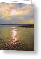 Victoria Harbor Sunset Greeting Card