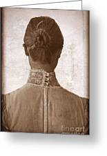 Victorian Lady From Behind Greeting Card