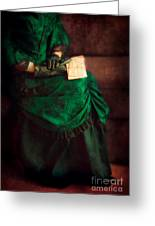 Victorian Lady With Letters Greeting Card