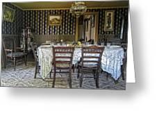 Victorian Sedman Home Dining Room - Nevada City Montana Greeting Card