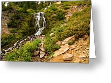 Vidae Falls Landscape Greeting Card
