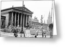 Vienna Austria - Parliament Building - C 1926 Greeting Card