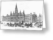 Vienna: City Hall, 1889 Greeting Card