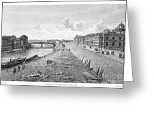 Vienna: Danube, 1821 Greeting Card