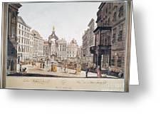 Vienna: Hohemarkt, 1793 Greeting Card