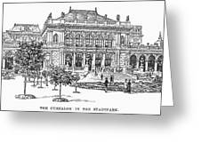 Vienna: Stadtpark, 1889 Greeting Card