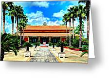 Vietnamese Buddhist Temple Greeting Card