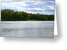 View Across The River Greeting Card