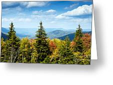 View Along The Highland Scenic Highway Greeting Card