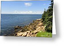 View From Bass Harbor Light Greeting Card