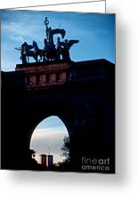 View From Brooklyns Grand Army Plaza Greeting Card
