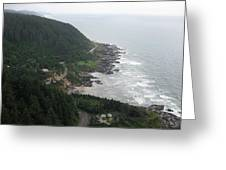 View From Cape Perpetua 2 Greeting Card