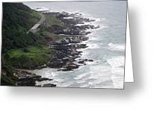 View From Cape Perpetua Greeting Card