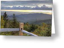 View From Clingmans Dome 2 Greeting Card