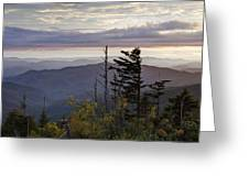 View From Clingmans Dome 4 Greeting Card