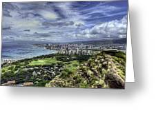 View From Diamond Head Greeting Card