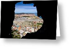 View From Inside Of The Gibraltar Rock Greeting Card