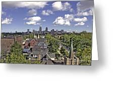 View From Pilgrim Church. Greeting Card