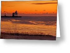 View From Shore Greeting Card