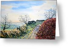 View From Sutton Bank In North Yorkshire Greeting Card