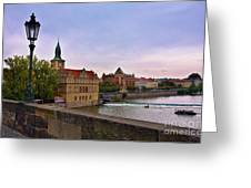View From The Charles Bridge Revisited Greeting Card