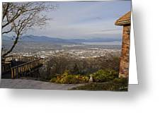View From The Home On Top Of The Hill Greeting Card