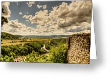 View From The Ruins Greeting Card