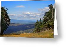 View From Top Of Cannon Mountain Greeting Card