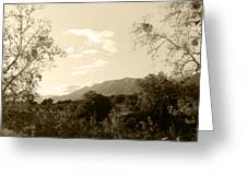 View In The Valley Greeting Card
