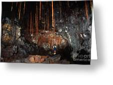 View Inside Kaumana Lava Tube, Hawaii Greeting Card