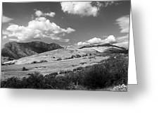 View Into The Mountains Greeting Card