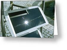 View Of An Amorphous Solar Cell Greeting Card