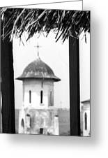View Of An Old Church Bell Tower  Greeting Card