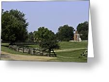 View Of Appomattox Courthouse 2 Greeting Card