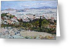 View Of Athens From Acropolis Greeting Card