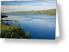 View Of Boulardarie Island From Seal Greeting Card